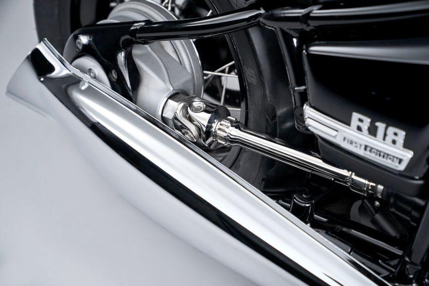 Trục láp lộ thiên trên BMW R18 2020