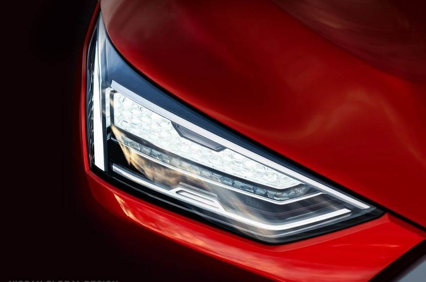 Cụm đèn pha của Nissan Magnite có thiết kế khá giống mẫu SUV cỡ B Kicks