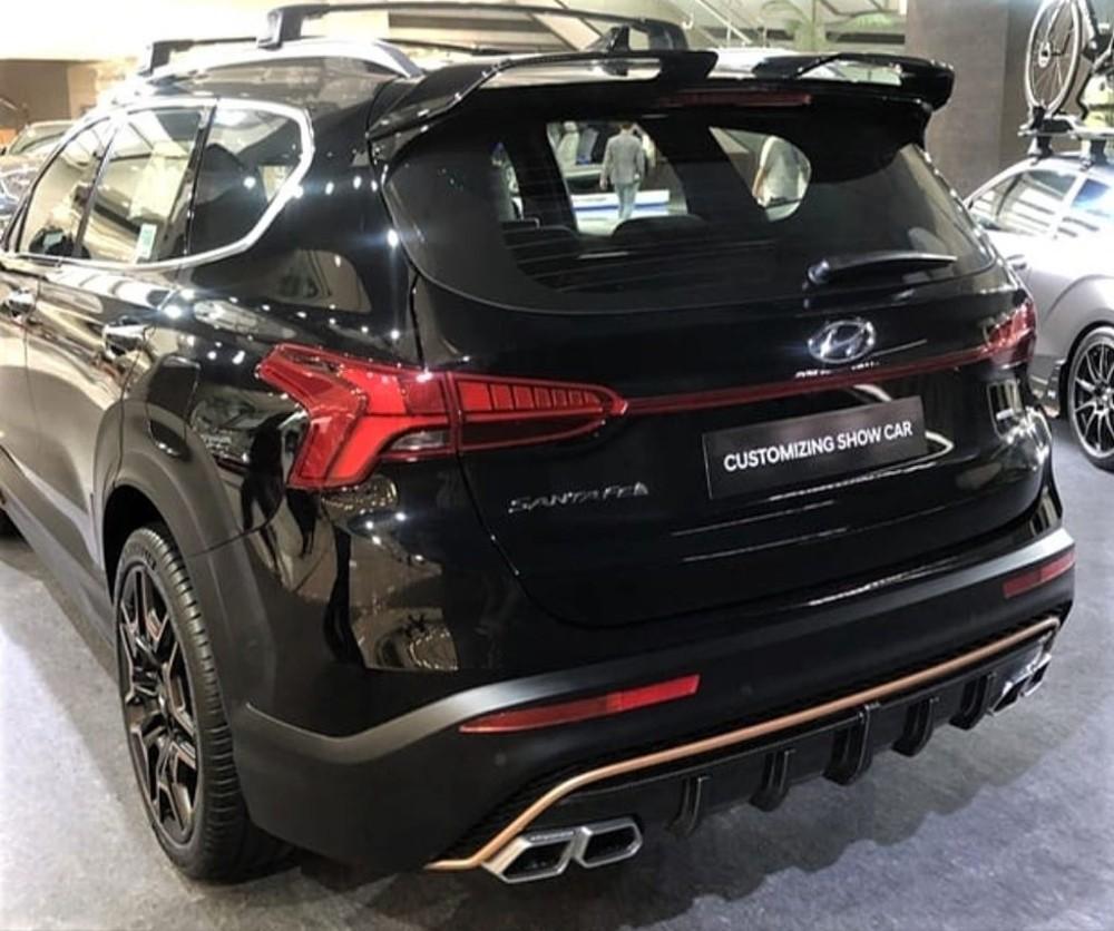 Hyundai Santa Fe N Performance Kit viewed from behind
