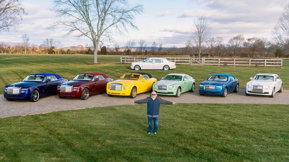 Michael Fux cùng dàn xe Rolls-Royce với các màu sơn riêng mang tên mình