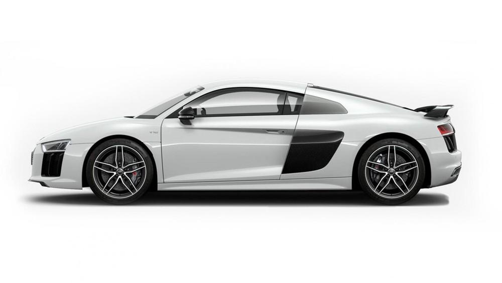 Audi R8 xám trắng