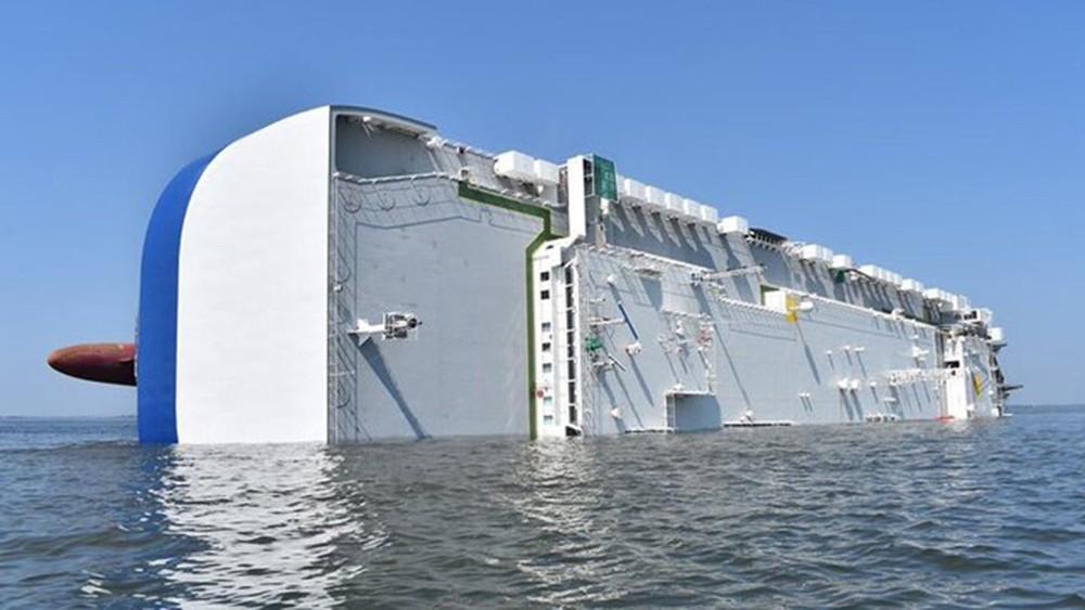 Bên trong tàu thủy này có 4.200 chiếc ô tô Hyundai và Kiaa