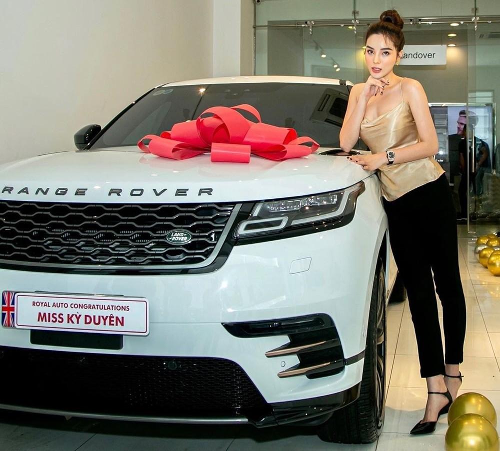 Hoa hậu Kỳ Duyên cùng Range Rover Velar mới mua