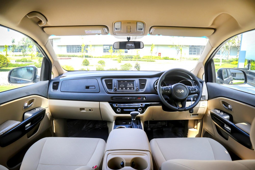 Familiar furniture turned to inverted steering wheel to suit the Thai market