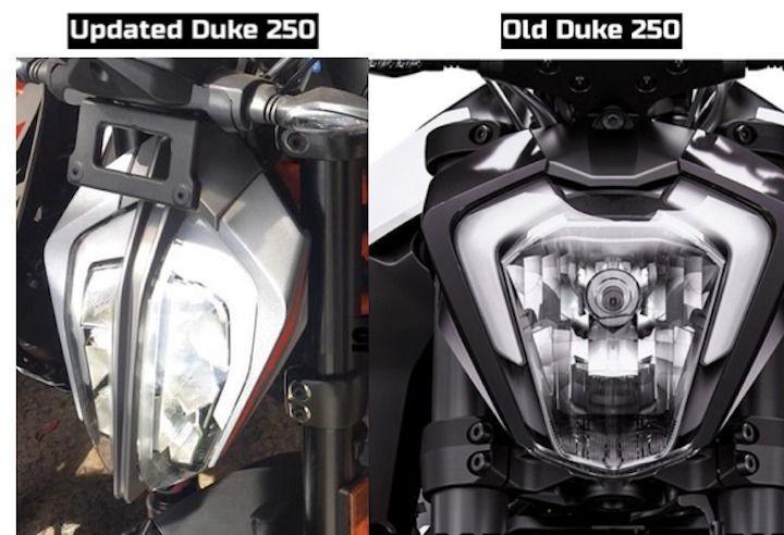 Đèn pha LED trên KTM 250 Duke 2020 khá giống với đèn pha trên KTM 390 Duke