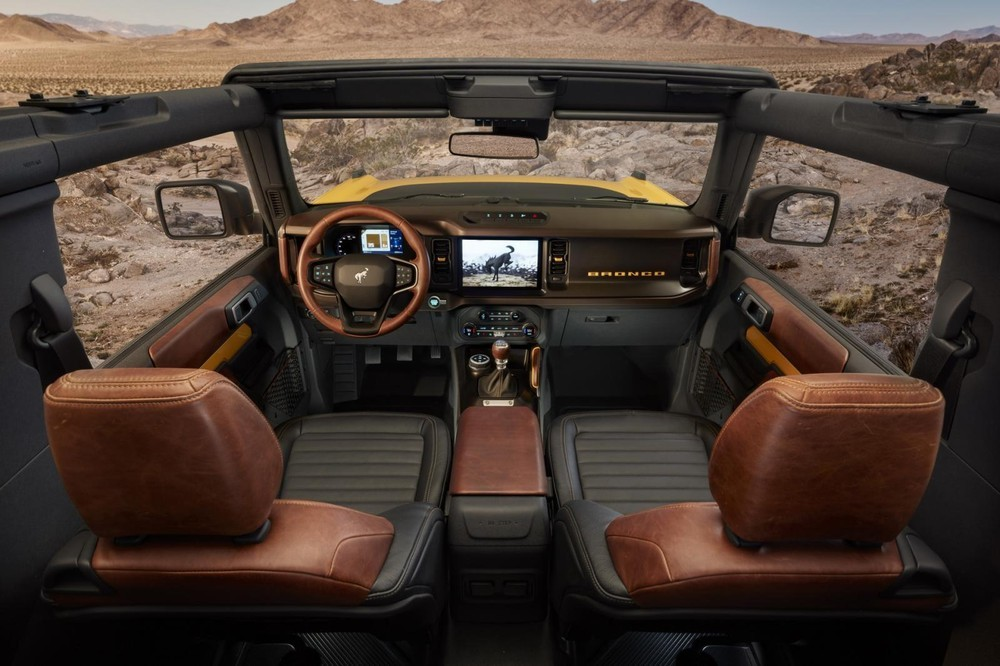 Interior inside the new Ford Bronco