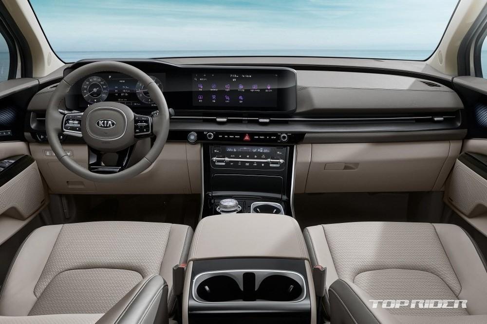 Nội thất của Kia Sedona 2021 sang trọng và hiện đại hơn nhiều so với thế hệ cũ