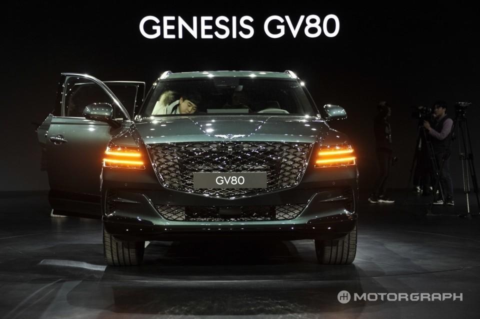Cận cảnh thiết kế đầu xe của Genesis GV80