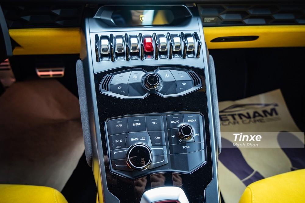 Nút điều chỉnh của Lamborghini Huracan
