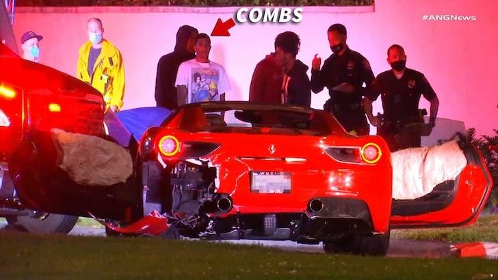 Con trai rapper có tên thật là Sean Combs có mặt tại hiện trường vụ tai nạn