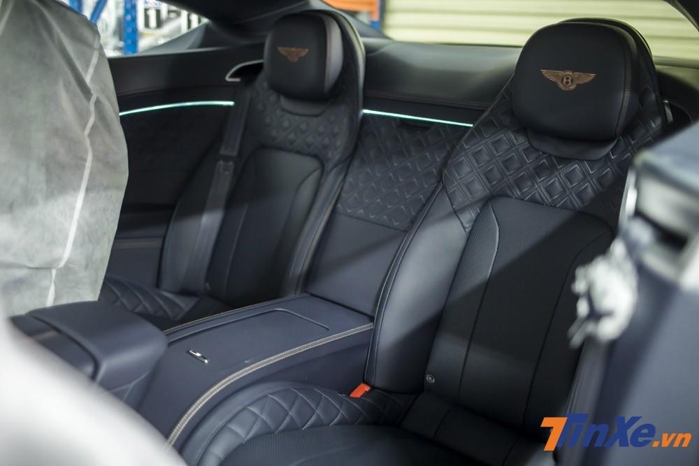 Hàng ghế sau của Bentley Continental GT thế hệ thứ 3