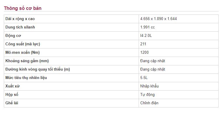 Bảng thông số kỹ thuật xe Mercedes Benz C250