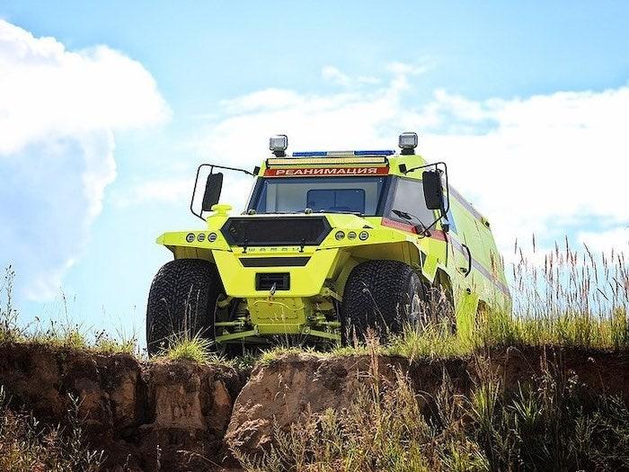 Shaman Ambulance hoàn toàn phù hợp để ứng cứu những nơi xa xôi, hẻo lánh