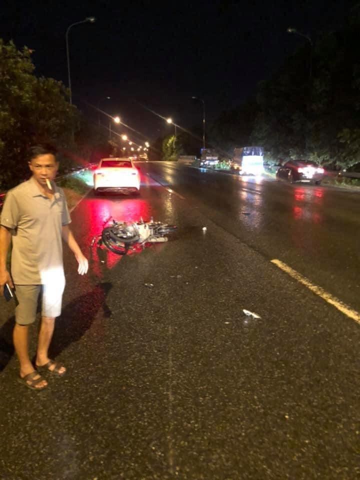 Hiện trường vụ tai nạn trên đại lộ Thăng Long