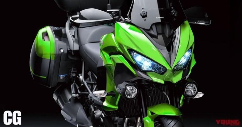 Thiết kế dự kiến của Kawasaki Versys 650 2021