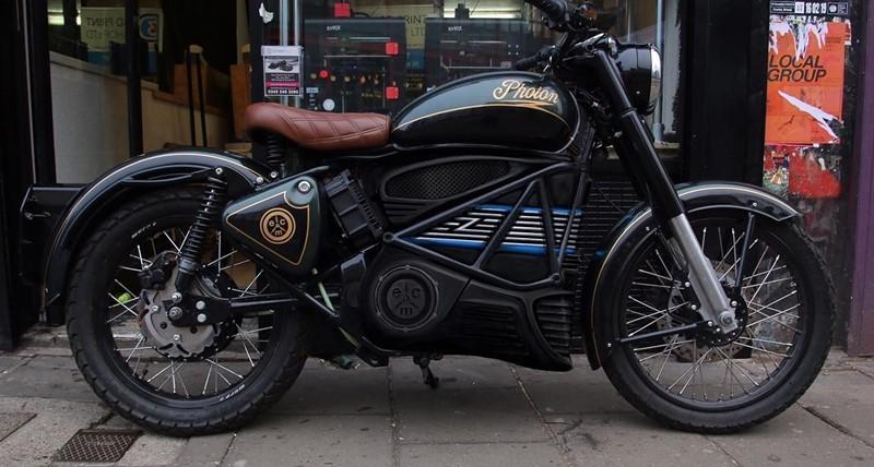 Mẫu xe mô tô điện được thiết kế dựa trên Royal Enfield trước đây