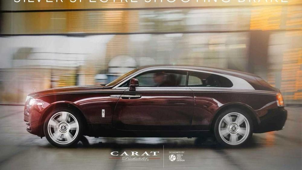 Chiếc Rolls-Royce Wraith được kéo dài phần nóc