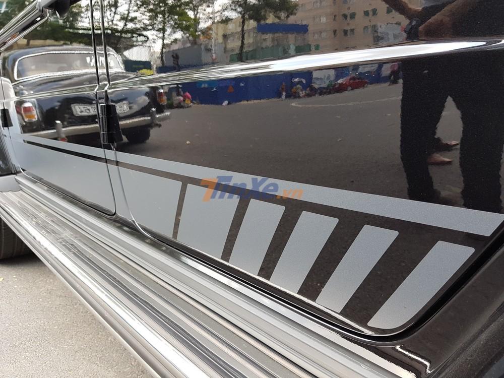 Decal màu bạc cạnh hông Mercedes-AMG G63 Edition 1