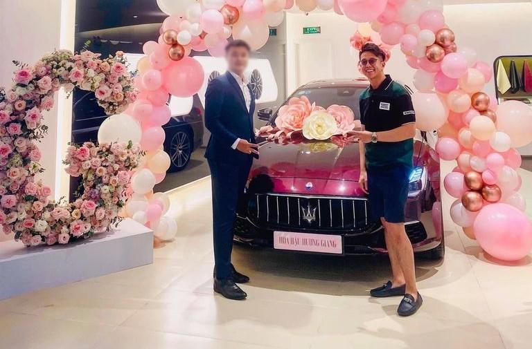 Matt Liu, bạn trai của Hoa hậu chuyển giới Hương Giang cùng chiếc xe sang Maserati Quattroporte