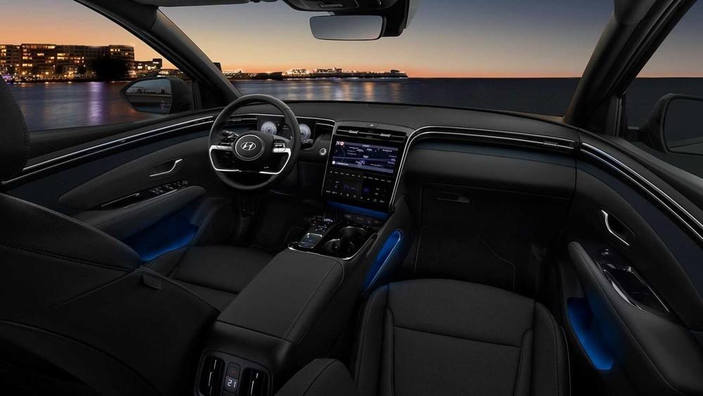 Hyundai Tucson 2021 có hệ thống đèn viền 64 màu
