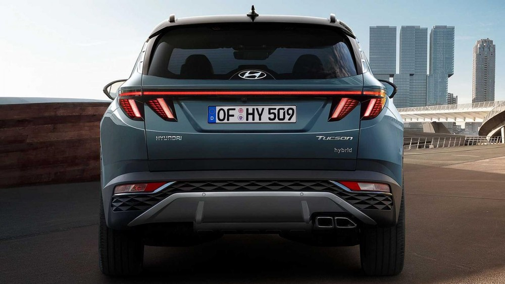 Thiết kế đằng sau của Hyundai Tucson 2021