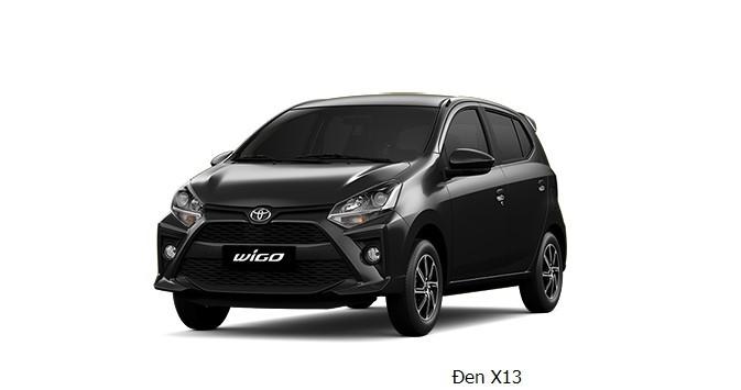 Giá xe Toyota Wigo màu đen dao động từ 352 - 385 triệu đồng