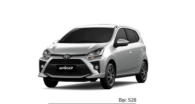 Giá xe Toyota Wigo màu bạc dao động từ 352 - 385 triệu đồng