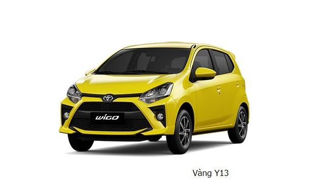 Giá xe Toyota Wigo màu vàng dao động từ 352 - 385 triệu đồng