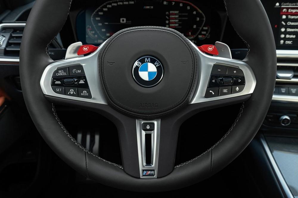 BMW M3 và M4 Competition 2021 có lẫy chuyển số sau vô lăng