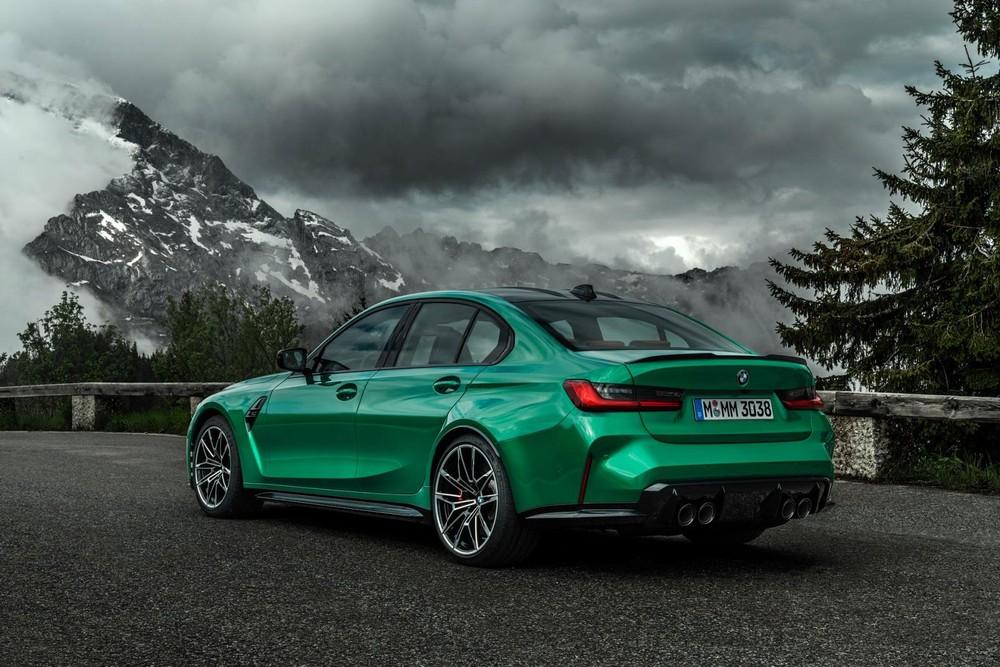 BMW M3 2021 dùng vành 18 inch trước, 19 inch sau tiêu chuẩn