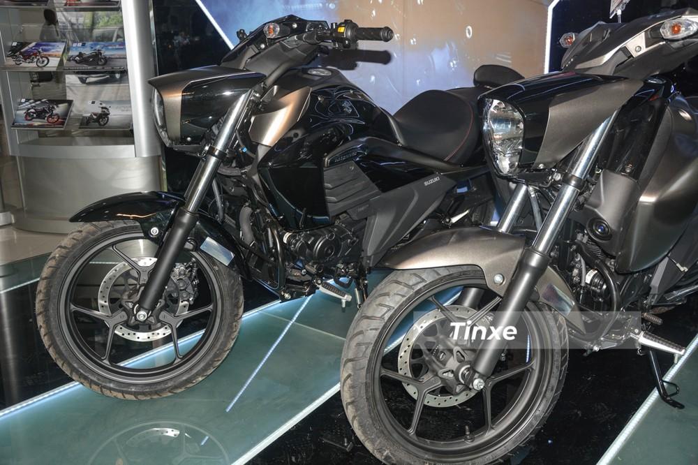 Suzuki Intruder 150 sử dụng mâm 3 chấu kép dạng chữ Y, xe có đĩa trước được tích hợp hệ thống chống bó cứng phanh ABS