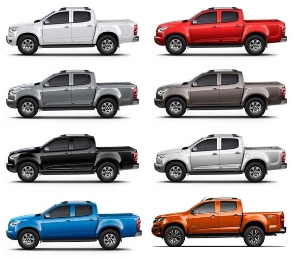 Tùy chọn màu sắc ngoại thất của Chevrolet Colorado