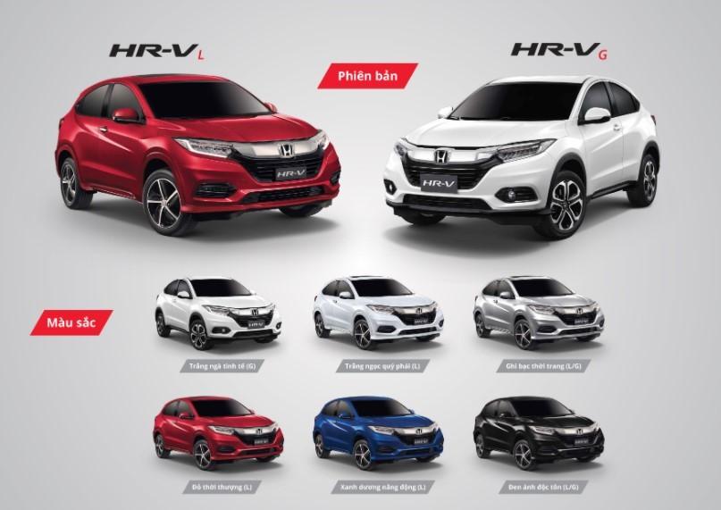 Màu sắc tùy chọn của Honda HR-V 2020
