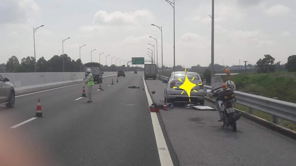 Hiện trường vụ tai nạn trên cao tốc Hạ Long - Hải Phòng
