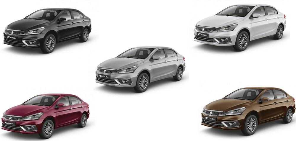 5 màu sắc của Suzuki Ciaz mới