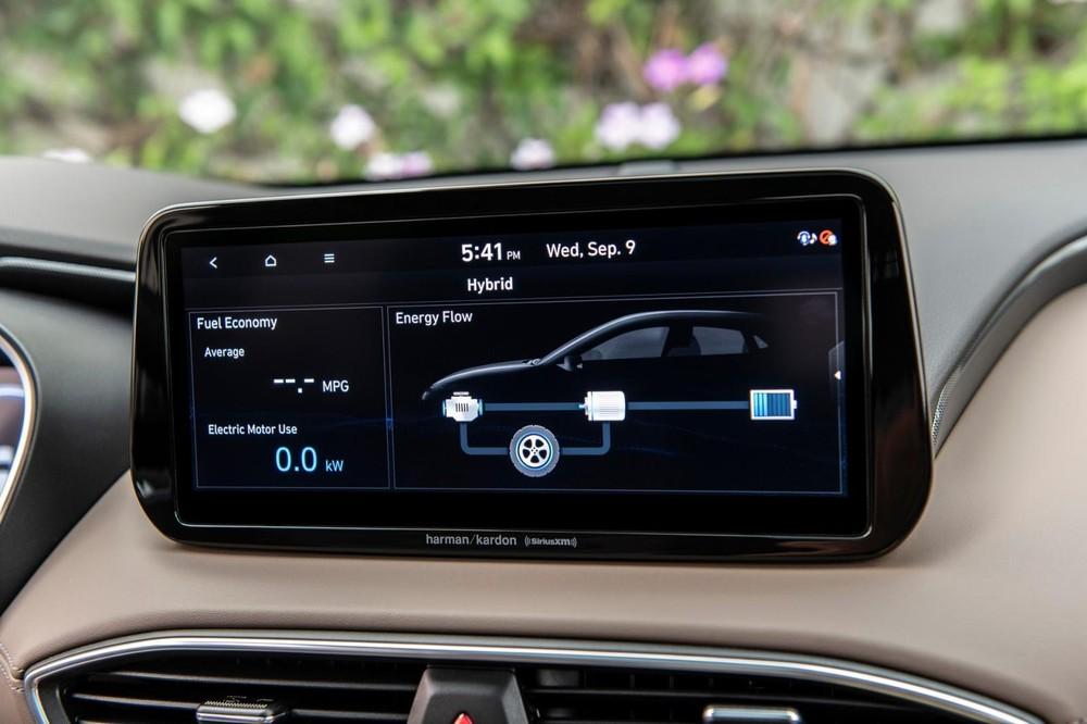 Màn hình thông tin giải trí của Hyundai Santa Fe 2021