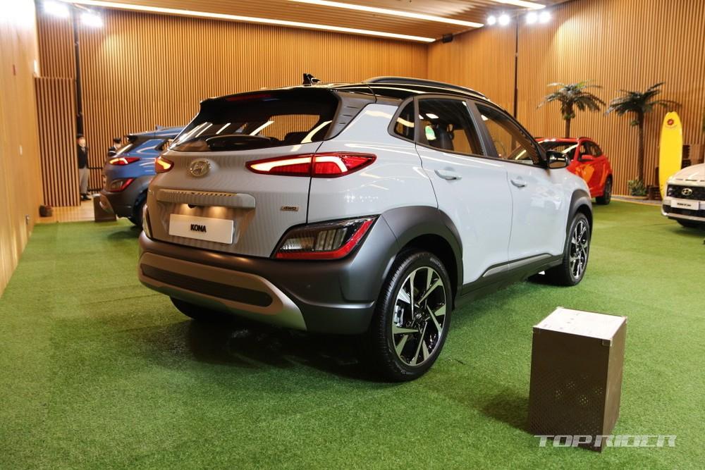 Thiết kế dằng sau của Hyundai Kona 2021