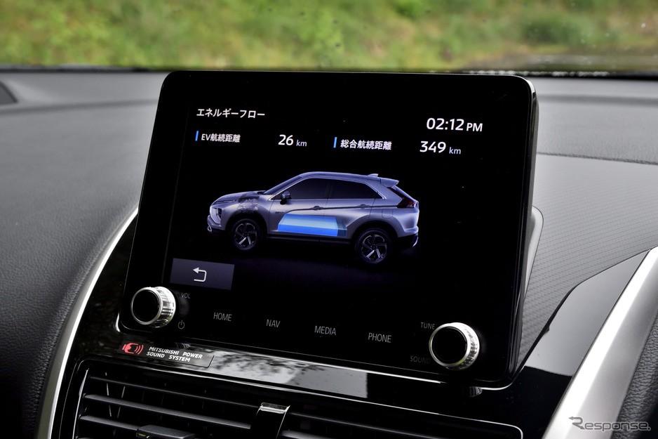 Màn hình thông tin giải trí của Mitsubishi Eclipse Cross 2021