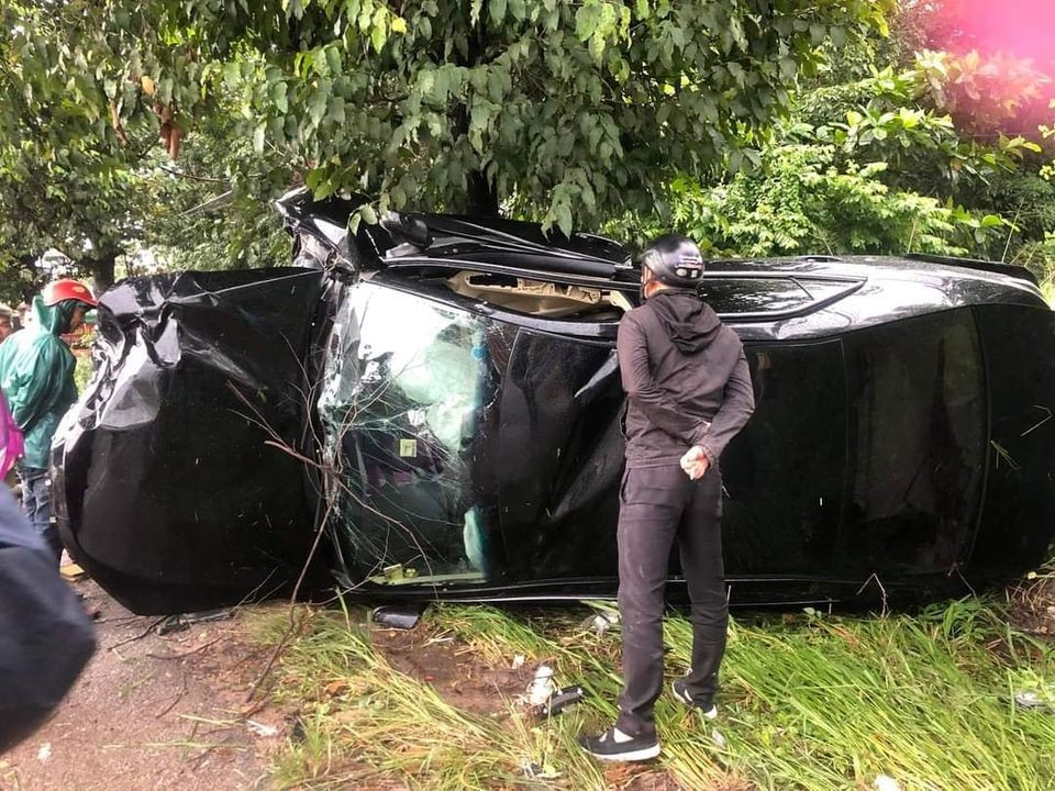 Hiện trường vụ tai nạn tại huyện Bàu Bàng, tỉnh Bình Dương