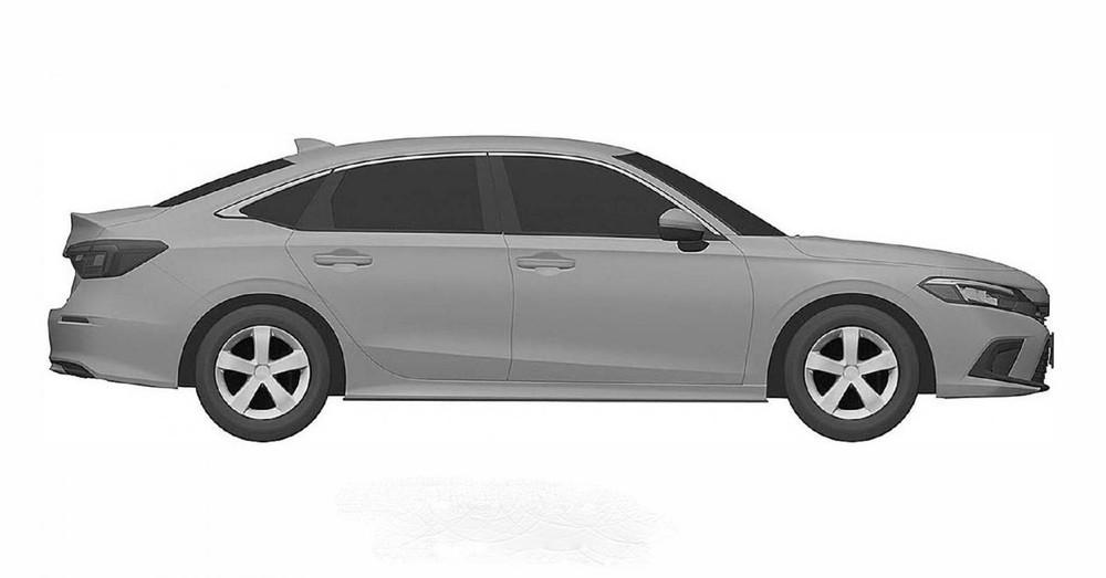 Thiết kế bên sườn của Honda Civic Sedan 2021