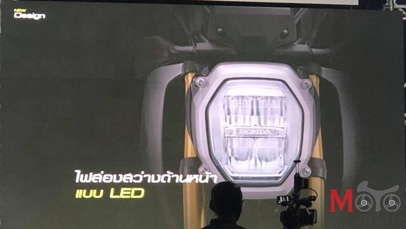Đèn pha mới trên Honda MSX 125 2021