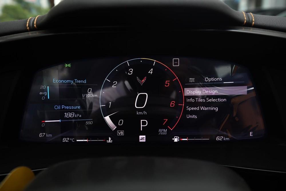 Chevrolet Corvette C8 Stingray 2LT 2020 có tốc độ tối đa đạt hơn 300 km/h