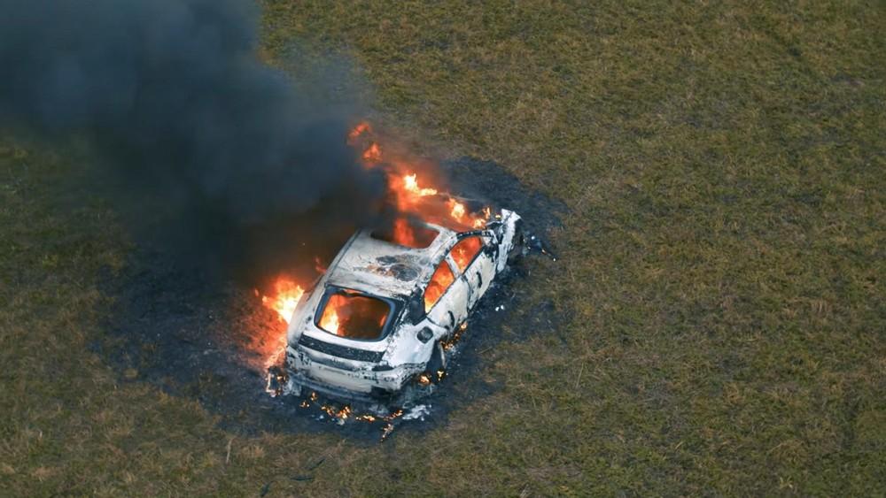 Bộ dạng cháy trơ khung của chiếcMercedes-AMG GT 63 S