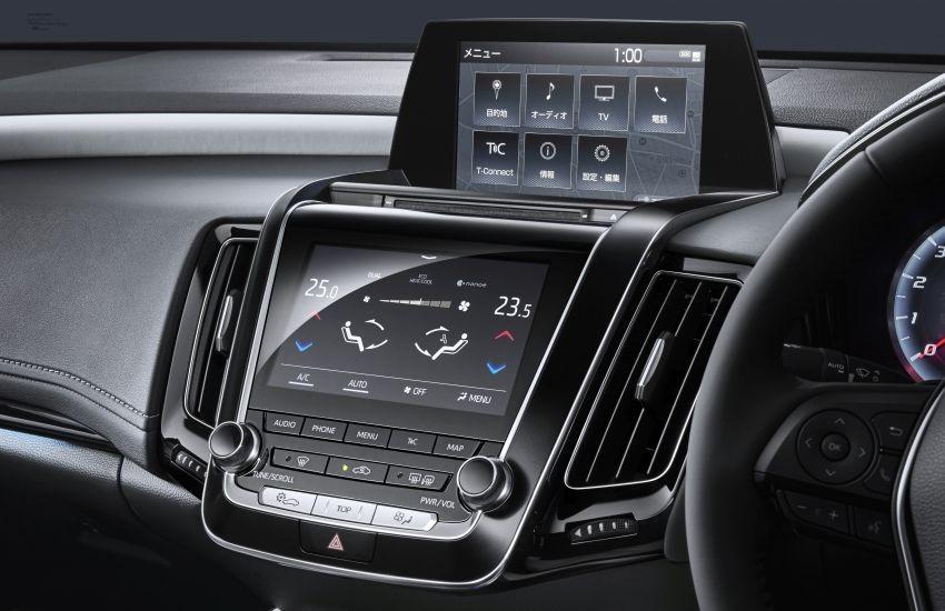 Màn hình điều hòa của Toyota Crown cũ