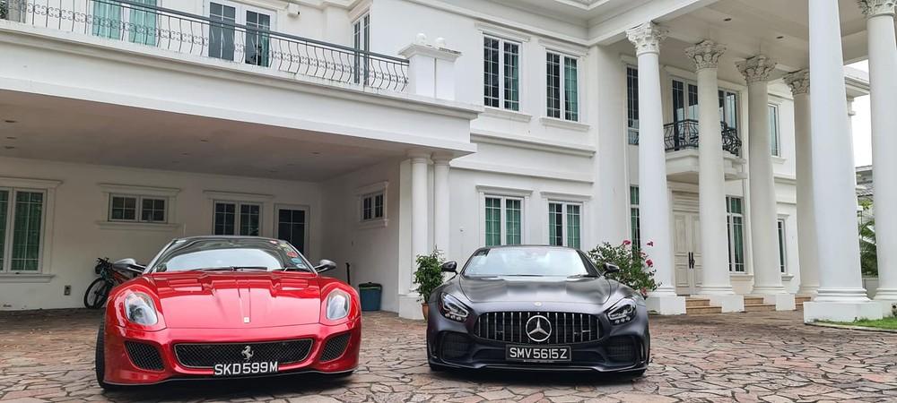 Cặp đôi siêu xe hiếm có, đắt tiền, chung một nhà của đại gia Singapore khiến nhiều người thèm muốn