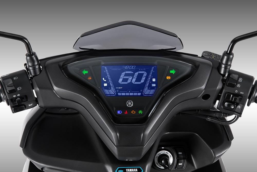 Mặt đồng hồ kỹ thuật số trên Yamaha NVX 155 2021