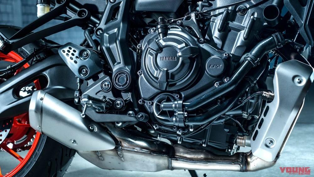 Khối động cơ CP2 trên Yamaha MT-07 2021