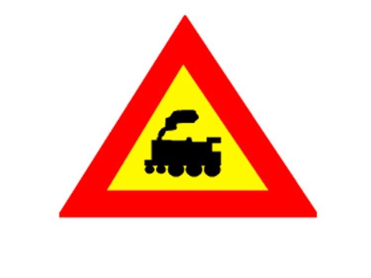 Biển số W.211a: Giao nhau với đường sắt không có rào chắn