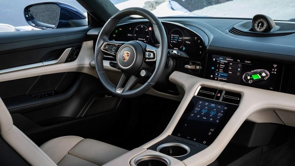 Nội thất bên trong Porsche Taycan