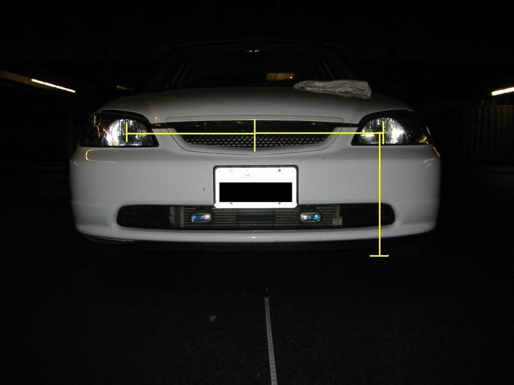 Đo tim xe và chiều cao từ mặt đất đến tim đèn